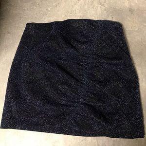 Zara Trafaluc Collection Blue Sparkle mini skirt